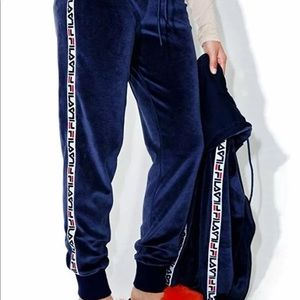 7ae4725ac456 ... Jacket Coat Hood Fila Women's Margaret Velour Jogger Pants, ...